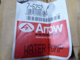 7-6252 Nissan Water Pump Remanufactured By Arrow 21010-H1025, 21010-H5025 image 2
