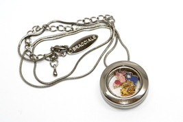 Bracciale Disney Round Locket Necklace Floating Tigger Piglet Floating Charms - $24.74