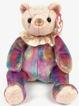October Bear TY Plush 2001 Birthday Beanies Collection Opal Multi Colors Retired - $20.00