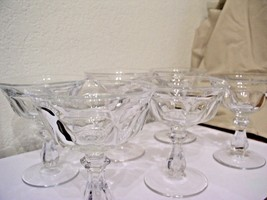 "Old Williamsburg Heisey Sherbet Glasses with ""H"" Marking Set of 6 - $100.00"
