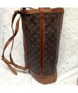 Vintage, Rare, Louis Vuitton Brown Mono Coated Canvas Briefcase 17inx13i... - $755.20