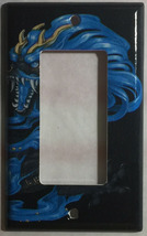 Chinese Blue Dragon Art Light Switch Power Outlet Duplex Cover Plate Home Decor image 3