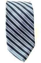 """Tommy Hilfiger Men's Tie Blue 3.5"""" x 59"""" Silk Striped White  - $25.99"""