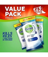 Dettol Antibacterial Surface Cleaning Wipes, 252 Wipes, Pack of 3 x 84 - $13.77