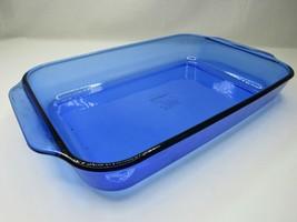 VINTAGE Cobalt BLUE Pyrex 3 Quart Baking Dish Pan 13 x 9 x 2 233-R Lasag... - $35.61