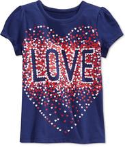 Epic Threads Little Girls' Love T-Shirt, Blue Print, Size 5 - $9.49