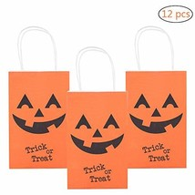 MISS FANTASY Halloween Trick or Treat Bags Pumpkin Candy Bags Jack O Lan... - £16.99 GBP