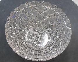 ABP cut glass bowl Brilliant - $157.67