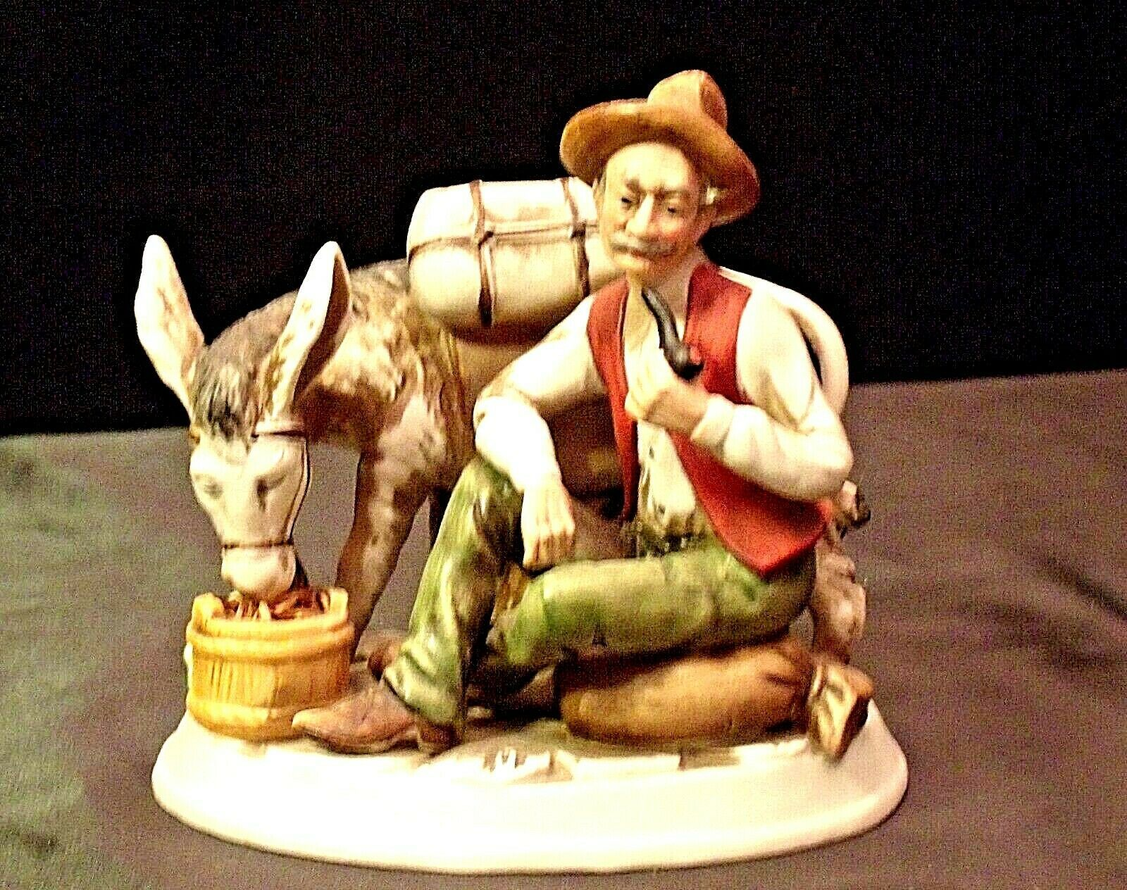 Capodimonte Man and Burro Figurine  AA20-2148 - $89.95