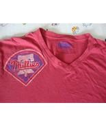 Philadelphia Phillies MLB baseball V Neck distressed Red Jacket Brand T ... - $16.19