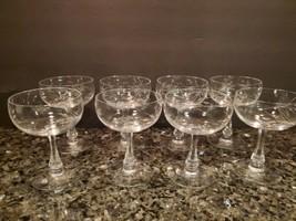 Set of 8 Vintage Fostoria TRUE LOVE Champagne Sherbet Glass Stem 6080 - $68.60