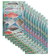 A115 VALUEPACK 10X Fish Animal Tank Kindergarten Craft Sticker 27x18cm/1... - $15.99