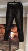 Joe's Leather and Fabric Skinny Ankle Jeans Sz 24 Compare at $200.00+ - $101.11