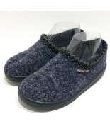 Haflinger Wool Hard Sole Slippers Womens 36 Speckle Navy Outdoor Made in... - $47.30