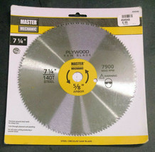 "Master Mechanic Steel Circular Saw Blade, 7-1/4"", 140 Teeth, 5/8"" Bore/Arbor - $9.07"
