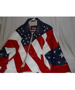 American Flag Stars & Stripes Red White Blue By USA Leathers Motorcycle ... - $75.00