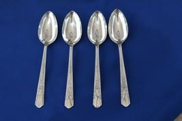 4 Oneida Simeon & George Rogers Jasmine/Debonair 1939 Place Spoons - $19.80