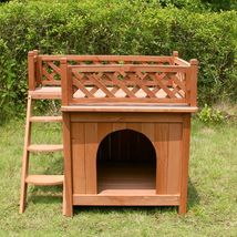 "Merry Products Wooden Dog House, Cedar Stain, Small, 21.73""L x 28.54""W x... - $85.95"