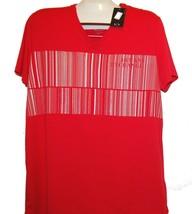 Armani Exchange Designer Red Gray Logo Cotton Modal Men's T-Shirt TOP Sz... - $39.19
