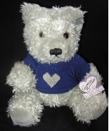Annette Funicello Joshua Teddy Bear Grey Blue H... - $19.00