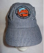 Royal Gorge Route Colorado Railroad Train Cap Navy White Stripe Adj Hat ... - $13.85