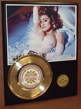 "MADONNA ETCHED W/ ""LIKE A VIRGIN"" ETCHED  RECORD LTD EDITION DISPLAY - $89.95"