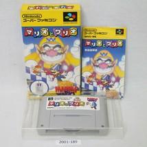 Nintendo Snes Mario & Wario W / Boîte Actif Sfc Japon 2001-189 - $18.21