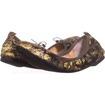 Jessica Simpson Nalan Bow Decal Ballet Flats 511, Metallic Multi Floral, 6.5 US - $29.75