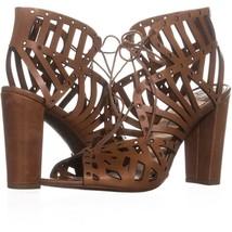 Jessica Simpson Emagine Lace Up Sandals 002, Burnt Umber, 9 US / 39 EU - $36.47