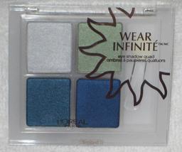 L'oreal Wear Infinite Eyeshadow Quad in Sea Splash - $5.95