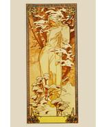"11x14""Decor Canvas.Interior design Art Nouveau.Mucha French Nymph.6229 - $28.05"