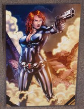 Marvel Avengers The Black Widow Glossy Print 11 x 17 In Hard Plastic Sleeve - $24.99
