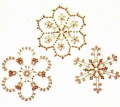 Y676 Crochet PATTERN ONLY 3 Crochet & Beaded Snowflake Christmas Ornaments - $10.50