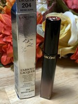 Lancome L'Absolu Lacquer Longwear Lip Color #204 BEIGE AURA BNIB - $19.79