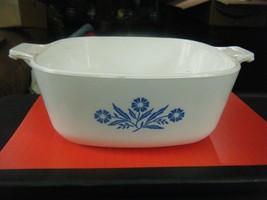 Vintage Corning Ware Blue Cornflower 1.5 Quart Casserole Dish w/Lid C-23 - $28.70