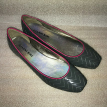 """Gianni Bini Grey 6M Balet Flats Patent Faux Leather Shoes 1/2"""" Wedge Heels - $21.22"""