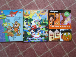 Vintage Walt Disney Book Lot, Puzzles, early WDW Coloring Book, Hallowee... - $9.99