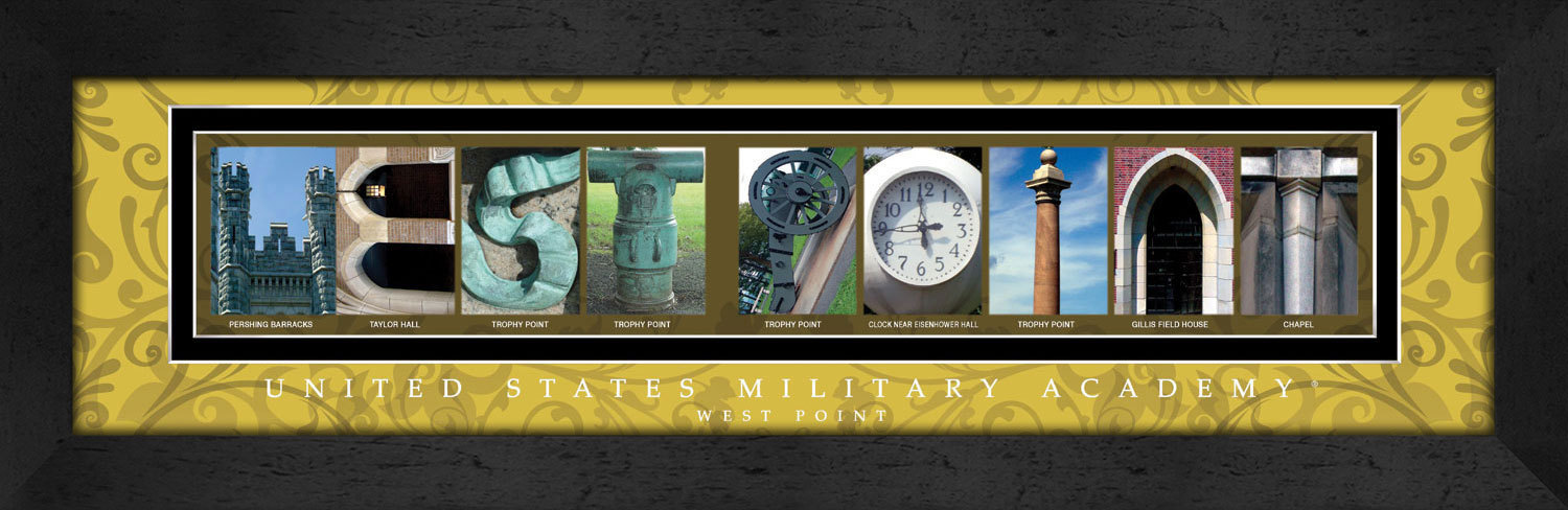 Primary image for U.S. Military Academy - West Point Officially Licensed Framed Campus Letter Art