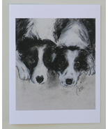 Border Collie Dog Art Note Cards Solomon - $12.50