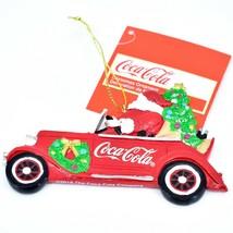 "Kurt S. Adler Santa Claus Driving Coca-Cola Coke Truck 2.75"" Christmas Ornament image 2"