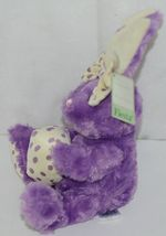 Fiesta Brand E07065 Purple White Polka Dot Sitting Easter Bunny With Bow Egg image 4