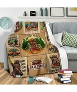 Bear Fleece Blanket Camping Fleece Blanket Gift For Camper I Hate People... - $46.98+