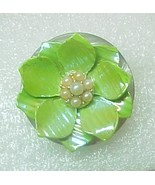 Hot Lime Green fashion pin handcrafted - $5.00