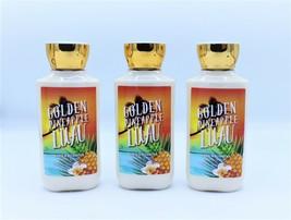 x3 Bath & Body Works Golden Pineapple Luau Shea & Vitamin e Body Lotion - $42.74