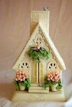 Dept 56 2002 The Easter Chapel Votive Candle Holder House - $62.36