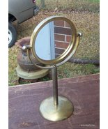 Antique Brass Two Sided Shaving Mirrored one si... - $75.00