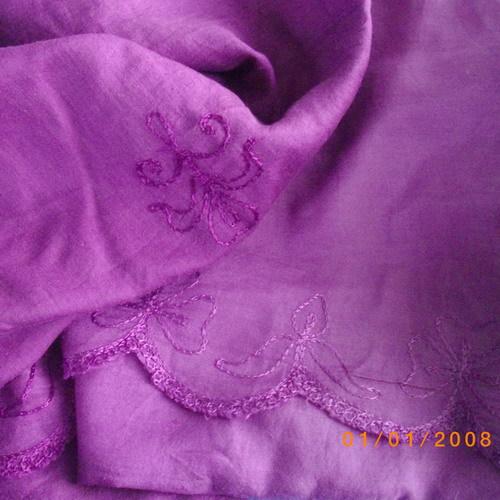 USF Collection purple rayon wrap skirt