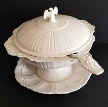 Lane & Co. Van Nuys White Eagle & Stars Patriotic Soup Tureen Complete B... - $128.65