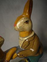 Vaillancourt Folk Art Dancing Rabbits Around a Basket Signed no. 19001 image 3