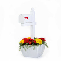 SnapPot post planter-WHITE- mailbox post planter deck tent or smal tree ... - ₹8,049.08 INR